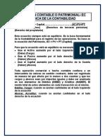 ECUACIÓN CONTABLE O PATRIMONIAL- EC BÁSICA DE LA CONTABILIDAD