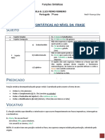 Funções sintáticas- 2