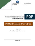 CURRICULUM DE L'ENSEIGNEMENT FONDAMENTAL 2