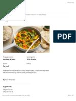 Veggie korma with naan recipe