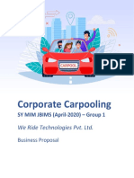 Corporate Car Pooling Business Proposal Document