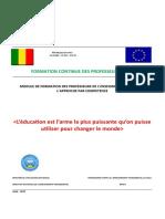 Module de formation des Prof d'IFM à l'APC Août 2O017