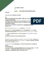 CR-8336 dated 16.03.2020 - Staff GMC Policy 2020-21