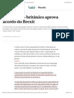 2020.02.10 Parlamento britânico aprova acordo do Brexit | Mundo | Valor Econômico
