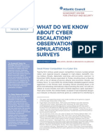 What Do We Know About Cyber Escalation
