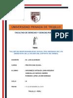 TALLER PROYECCION SOCIAL XI - DERECHO UPRIT