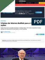 5 lições de Warren Buffett para o investidor de ações