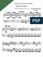 Dos Sonatas de Juan Andrés Lombida Mezquia (1745-1811). Fernando Abaunza