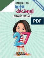 Cuadernillo de SUMAS Y RESTAS con punto decimal.pdf