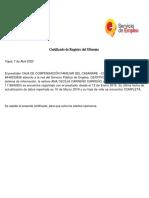 Certificado servicio de empleo