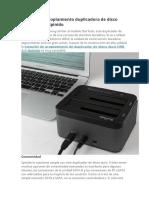 Estación de acoplamiento duplicadora de disco duro USB 3