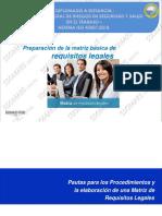 Procedimiento de preparacion de matriz de requisitos legales