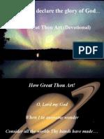 How Great Thou Art (Devotional)