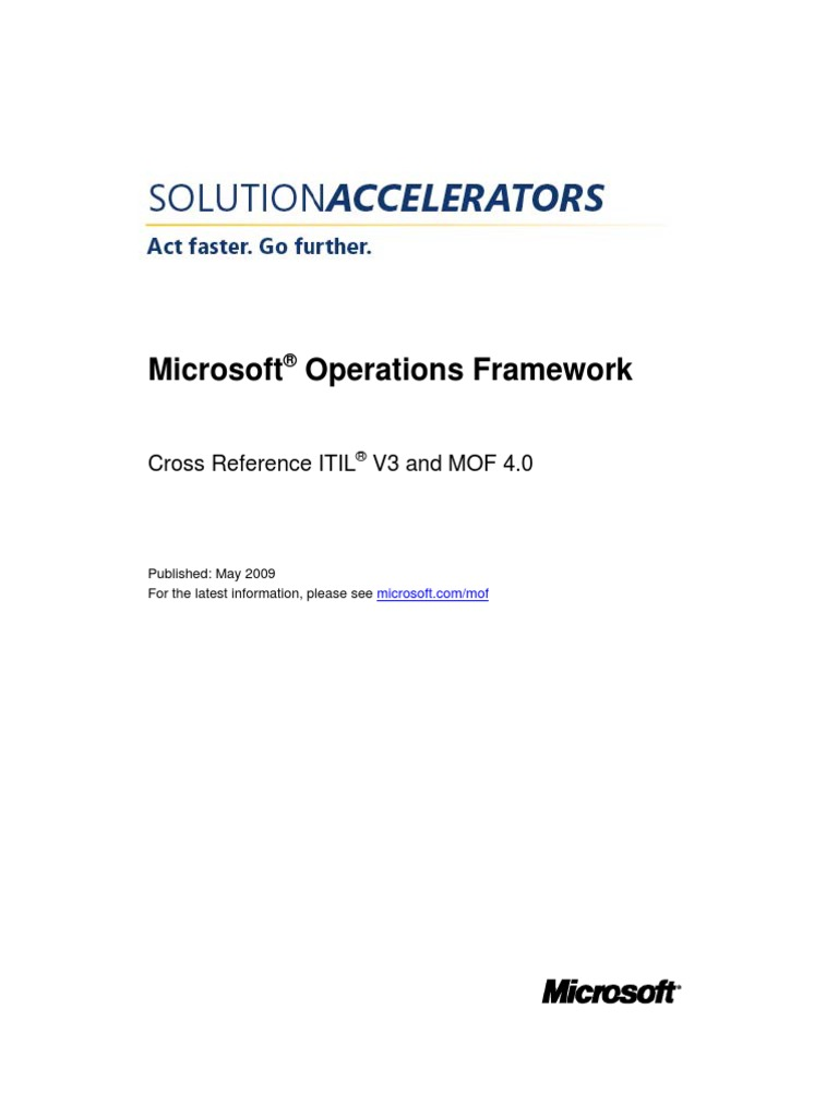 Cross reference itil v3 and mof 4 0 pdf itil it service management malvernweather Images