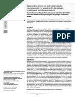 Aplicación y efectos de electroestimulación en disfagia