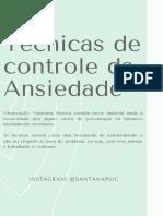 Técnicas de controle da Ansiedade @santanapsic