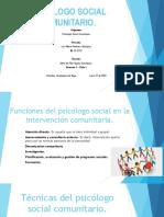 Psicólogo Social Comunitario