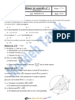 Devoir de Contrôle N°1 1er Semestre - Math - 1ère AS (2018-2019) Mr Meddeb Tarek