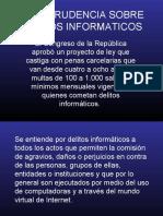 JURISPRUDENCIA SOBRE DELITOS INFORMATICOS