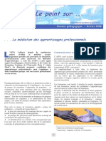 POINT 1  Médiation des apprentissages professionels