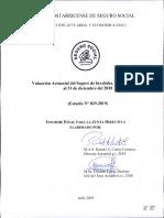 Valuación Actuarial Del Seguro de Invalidez, Vejez y Muerte, Al 31 de Diciembre Del 2018.