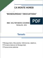 2) Boseguridad y Biocustodia en Salud Ocupacional Clínica Monte Horeb 2019
