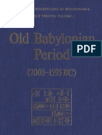 Old Babylonian Period (2003-1595 BC)