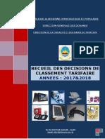 Recueil Decision Ct 2017-2018
