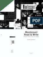 Montessori Read and Write