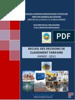 Recueil de décisions des classement tarifaire 2011. - Direction ....pdf