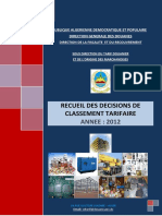 Le recueil des décisions de Classement Tarifaire pour l'année 2012.pdf
