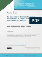 Carlos Astarita - La Historia de La Transición Del Feudalismo Al Capitalismo en El Marxismo Occidental