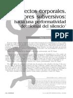 Martinez - Proyectos corporales - performatividad decolonial