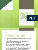 HERENCIA Y  FACTORES  DEL  DESARROLLO