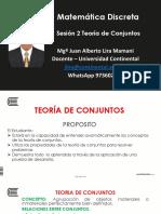 SESIÓN 2 TEORÍA DE CONJUNTOS