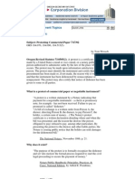 What is a Protest of Commercial Paper or Negotiable Instrument_ -- By Orgeon S.O.S.