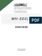 MH-500(i) 0i-MC Machine Instruction Manual