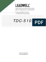 TDC-510S Machine Instruction Manual