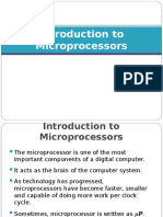 1 Introduction to Microprocessors