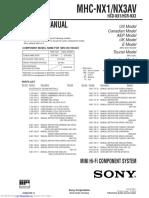 manual  sony mhcnx1