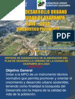 PLAN DE DESARROLLO URBANO DE LA CUIDAD DE OXAPAMPA 2014-2024