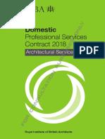 RIBA Domestic Professional Services Contract 2018