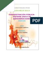 ADMINISTRACIÓN PÚBLICA-SISTEMA ÚNICO DE REMUNERACIONES