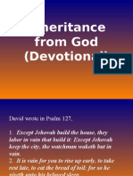 Inheritance From God (Devotional)
