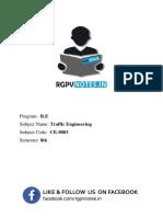 Unit 1 - Traffic Engineering - www.rgpvnotes.in