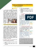 Lectura - Importancia de las citas y las referencias en la redacción de un texto académico