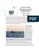 Thayer South China Sea- Will China Sink Fishing Boats in the Southern Spratlys?