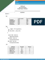 solutionof sample paper  9th chemistry icse