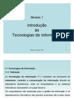 Modulo 1-Introdução às Tecnologias de Informação- AULA 2