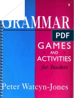 Grammar Games And Activities Peter Watcyn Jones Pdf